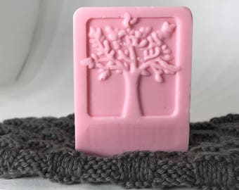 raspberry and goats milk soap bar