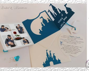 Invitation designs Animes and Castle princesses - wedding