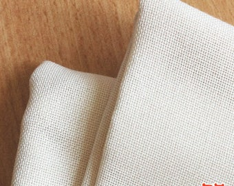 Counted Cross Stitch Fabric - 28 count Evenweave - 28ct Cream Soft Good quality ECUR Cross Stitch Needlework Needlepoint handstitched