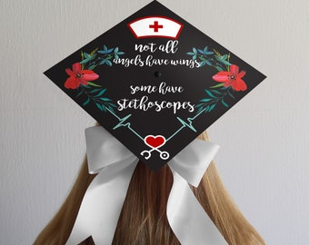 Graduation Cap | Nurse | BSN | RN | Nursing | Nurse Quote | Nursing Saying | Medical | Grad Cap Decal