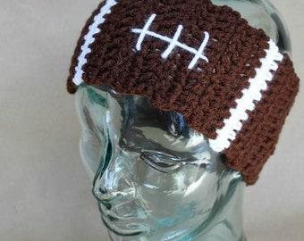 Football Ear Warmers | Crochet Pattern | Crochet Football Ear Warmers Pattern | Crochet Ear Warmers | Ear Warmers Teens/Adult | PDF Pattern