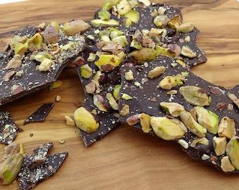 Pistachio and Dark Chocolate Bark - Belgian chocolate