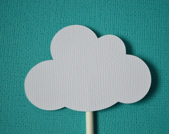 Cloud Cupcake Toppers White By The Dozen 12