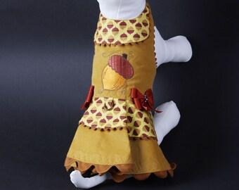 SAMPLE SALE:  Acorn Corduroy Dog Dress