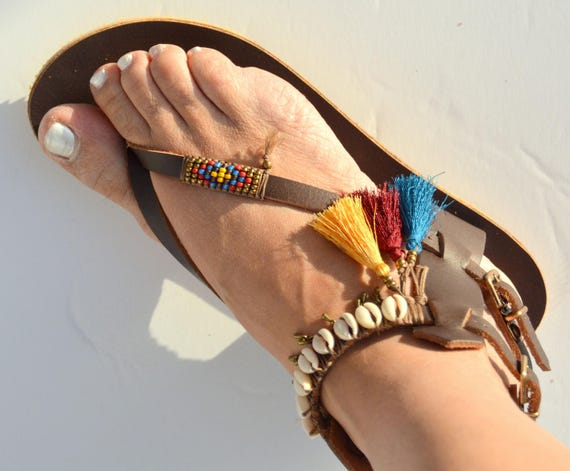 Sandals Sandals Sandals Boho Greek Sandals Handmade Hippie Sandals Sandals Sandals Leather Boho Sandals Women Gladiator Chic Bohemian 6C7vqw6