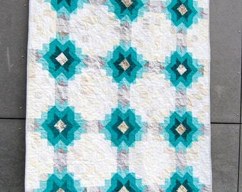 Echo Star Quilt Pattern PDF- Instant Download, Modern Quilt