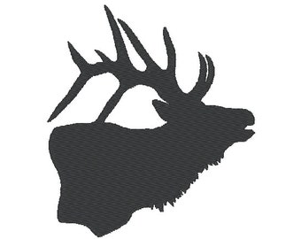 Elk, deer, fill designs, many mini sizes (.pes .hus .dst .vp3 .vip .xxx .exp .jef)  - embroidery fill-stitch embroidery design