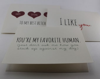 SET OF 3 Cards / Choose Any Three / Greeting Card Set / Pack of Cards / Bulk Card Set