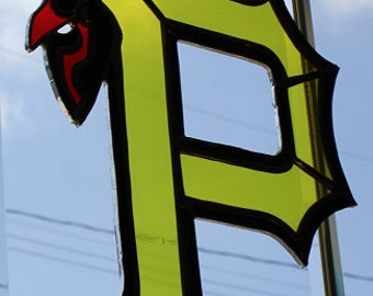 Stained glass Pittsburg Pirates suncatcher wall decor