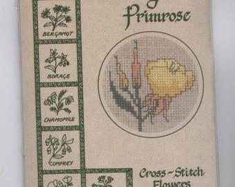 Evening Primrose Flower Greeting Card Counted Cross-Stitch Kit