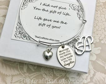 SDB - Stepdaughter Bangle, Gift For Daughter In Law, Gift from Stepmom, Stepdaughter Gifts, Gifts for Stepdaughter, Daughter Bangle