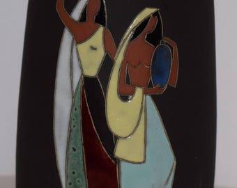 Arno Kiechle 505 Luise Haas WGP ceramic vase 60s 50s vintage art pottery