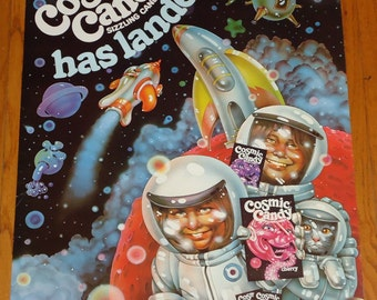 Rare Vintage 1970s Cosmic Candy Poster