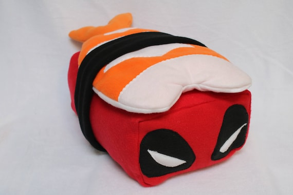 Yep. That's a Deadpool Sushi Pillow. Cuddle it.