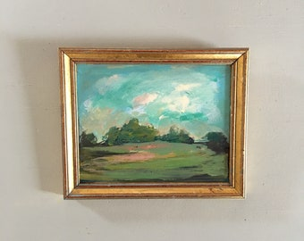 Small painting-  Study Painting -Original -Landscape Painting -Small Art 6 x 7-1/4 approx. size including frame- Ready to Hang