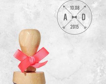 Wooden bowtie stamp '