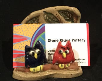 Owls card holder