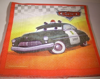 Disney Cars Sherriff NAPKIN