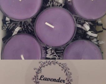 Lavender - Tea Lights, Set of Ten
