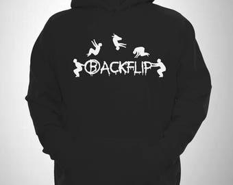 Backflip Hoodie Graffiti Parkour Hooded Free Running Sweatshirt