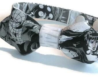Photo Prop Bow Tie - Baby Bow Tie - Black & White Bow Tie - Superhero Bow Tie - Diamond Bow Tie - Baby Gift - Newborn Photo Prop