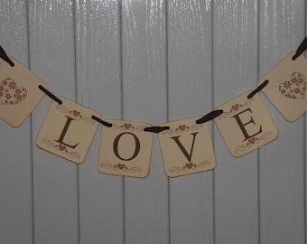 Love Banner  Engagement Wedding Garland