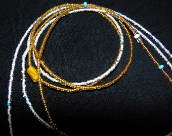 NOUGATINE - Two Strand Waist Bead in gold