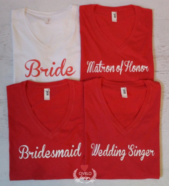 Create Your Custom Wedding Party Pick your shirt or create your own idea