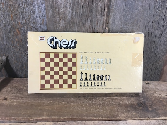 Vintage from 1975 Whitman Chess game, 1975 Western Publishing Company board game, vintage game night, chess game, original chess game