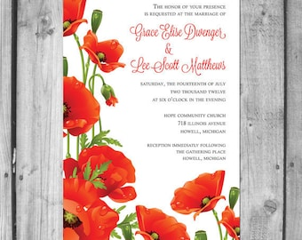 Poppy Wedding invitation Set