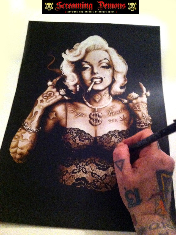 Tattooed Marilyn Monroe ArtMarilyn MonroePinupTattooed