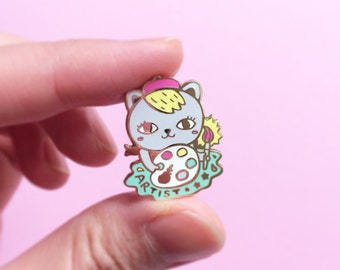 Kitty the Artist  - Hard Enamel Pin