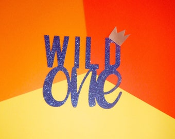 Wild One Cake Topper, Wild Things Party Cake Topper, Wild Cake Topper,Smash Cake, Wild One Tribal Party, Wild One Cake, Crown Topper