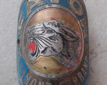 Old bicycle Favor Clermont-Ferrand, France bicycle bike Head Badge Headbadges plate