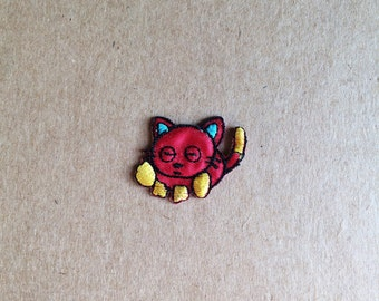 Cute little iron-on cat patch