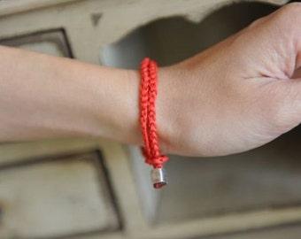 Red bracelet MEN Orange UNISEX Luck Kabbalah stylish accessory by RedBracelet on Etsy