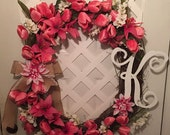 Tulips- Everyday Wreath - Garden Wreath - Garden Decor - Front Door Wreath - Summer Decor - Housewarming Gift - Summer Wreath - Gift For Her