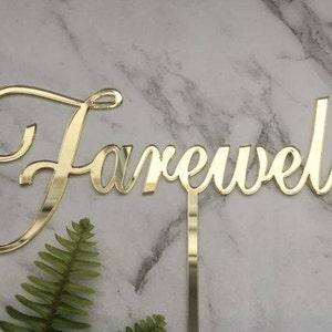 Farewell cake topper | Etsy