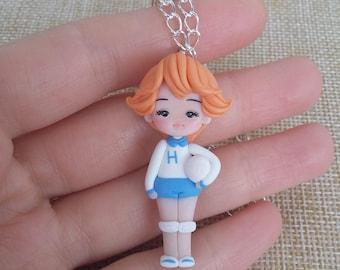 Mila atzuki attacker you necklace, anime manga  cartoons, polymer clay