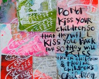 Kiss, Original Painting