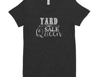 Yard Sale Queen Tee | Multi-Colors with White Lettering | Junker | Junk | Thrift