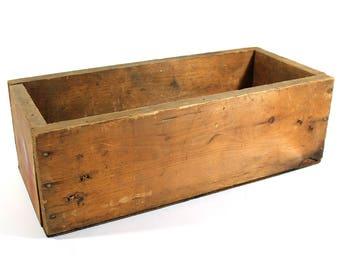 Primitive Vintage Wooden Box / Crate