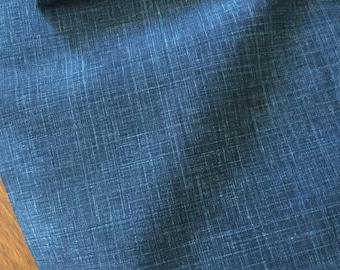 Sevenberry 100% dark blue textured cotton, 115cm wide.