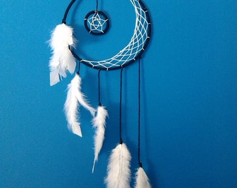 Crescent Moon Dream Catcher // MADE TO ORDER // You Pick the Color