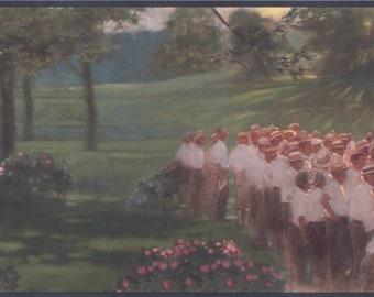 Wallpaper Border Vintage Golf Play Wall Retro Decor Modern Design Roll ADV2172