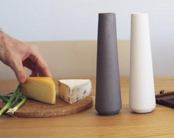 Salt and pepper shakers, modern Ceramics, Basalt Rocks White ceramics, modern tableware, kitchen accessories, table decor, minimal stoneware