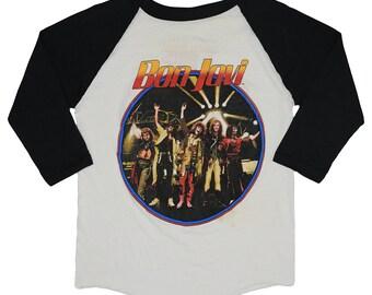 Bon Jovi Shirt Vintage tshirt 1986 The Wetter The Better Tour Jersey concert tee band rock Original 1980s