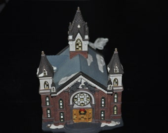 O'Well Lighted Christmas Village Church