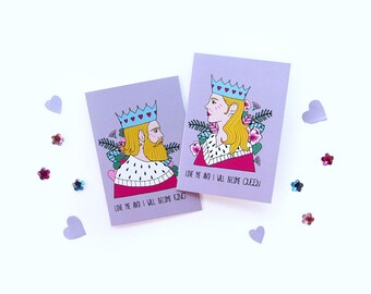 Set of 2 Greetings cards by Marta Fofi, valentines card, valentine's gift, cards, postcards,
