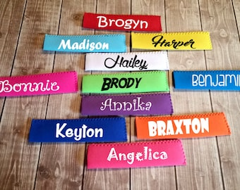Popsicle Holder - Personalized Popsicle Sleeve - Popsicle Huggers - Neoprene Freeze Pop Holder - Ice Pop Holder - Party Favors